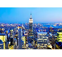 Empire State Building at Night: NYC Photographic Print
