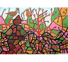 345 - TANGLETOWN - DAVE EDWARDS - COLOURED PENCILS & INK - 2012 Photographic Print