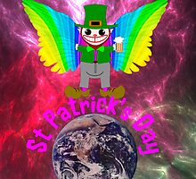 Leprechaun on Earth Greeting Card by Dennis Melling