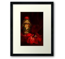 Oriental Snuff Bottle and Alstroemeria Framed Print