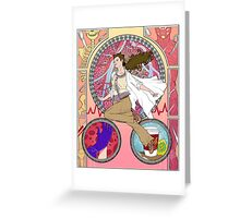 Sherlock Nouveau - Molly Hooper Greeting Card