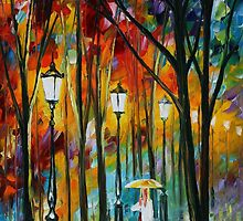 LADY IN WHITE - LEONID AFREMOV by Leonid  Afremov