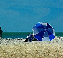 Beach Umbrella with Filter by Karen Checca