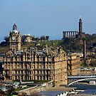 The Balmoral Hotel from the Castle by Tom Gomez