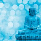 buddha light blue by hannes cmarits