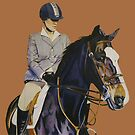 Concentration - Hunter Jumper Horse & Rider by Patricia Barmatz
