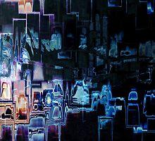 """tron"" - movie art by DARREL NEAVES"