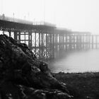 Foggy Mumbles pier. by ThePigmi