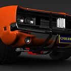 General Lee Car Dukes of Hazzard 2969 Dodge Charger Front by DW3DMAYA