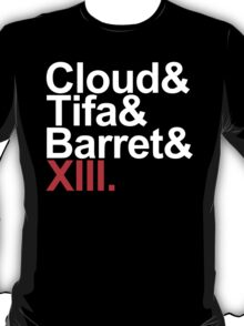 cloud&tifa&barret&xiii T-Shirt