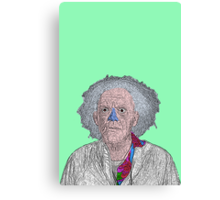 Back to the Future Doc Brown Canvas Print