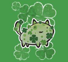 Green Clover Cat Kids Clothes