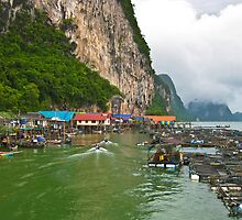 Ko Panyi Fishing Village by Dean Cunningham