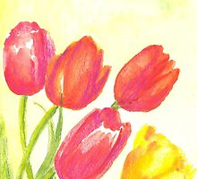 spring tulips by Elena Malec