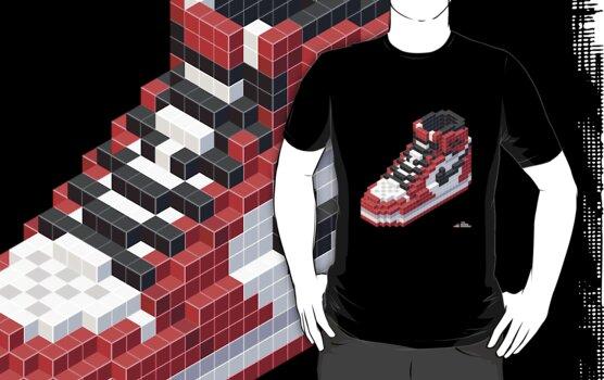3D 8-bit Air Jordan 1 by 9thDesignRgmt