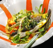Gilthead Seabream Back 2 Roots and Weissburgunder-Saffron-Vanilla-Sauce by SmoothBreeze7