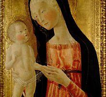 Black Veiled Madonna - by Neroccio de' Landi - c 1470. by Ian A. Hawkins