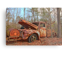 Old Ford F4 Tow Truck Metal Print