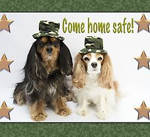 Come Home Soon Card Cavalier King Charles Spaniels by daphsam