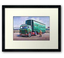 Scania livestock wagon. Framed Print