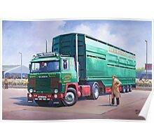 Scania livestock wagon. Poster