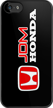 Honda  JDM Black iPhone Case, iPod Case, Samsung Galaxy Case, iPad Case, T-shirts, Hoodies, Kids Clothes, or Stickers by Kris Graves