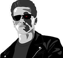 Arnold Schwarzenneger in Terminator by Paul Dunkel