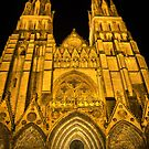 The Bayeux Cathedral at Night  (1) by Larry Davis