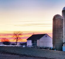 Amish farm in Lancaster Co PA by KellyHeaton