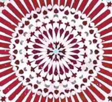 red capricorn Sticker