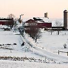 Winter Snow Farm Setting in Pennsylvania by KellyHeaton