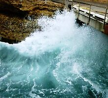 Ocean wave against the wall at Pt. Campbell Jetty, Vic. by EdsMum