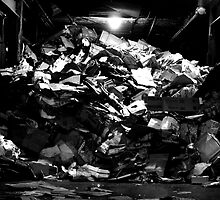 Pile Of Trash In A Garage.  by FoodMaster