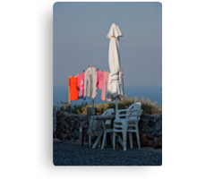 Wash Day In Oia Canvas Print