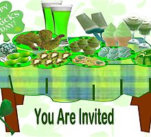 St Patrick's Day Menu: Invitation Card ( 434  Views) by aldona