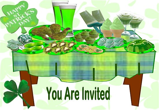 St Patrick's Day Menu: Invitation Card ( 668 Views) by aldona