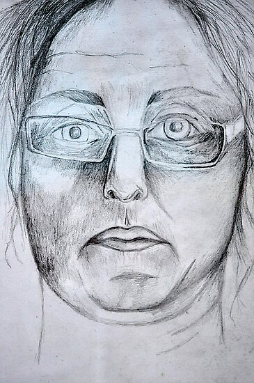 Another Self Portrait in Graphite  by MIchelle Thompson