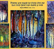 Waterpaint tree collage by Elizabeth Kendall