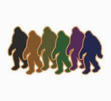 Multi-Colored Squatch by JPSBigfoot