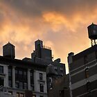 A buildings in New York City and old water towers.  by Anton Oparin