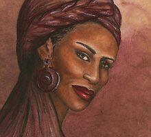 Regal Lady in Plum by Alga Washington