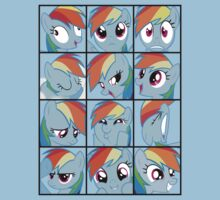 Emotions of Rainbow Dash by RoughBacon