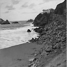 The Cliff House and sea lion Rocks by Joseph Allert