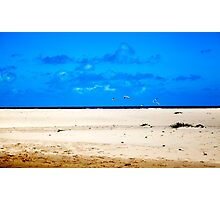 The Sea, its that bit between the sky and the land Photographic Print