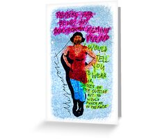 Thank You For Being My Outspoken Feminist Friend Greeting Card