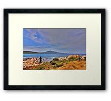 Rocky Shoreline Framed Print