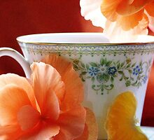 Tea In The Garden by AngieDavies