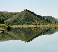 Cromwell Dam Reflections #2, New Zealand by Carole-Anne