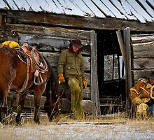 Cowboys on Break by Inge Johnsson