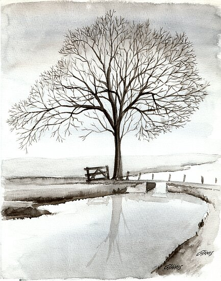 TRANQUIL BEAUTY - AQUAREL  by RainbowArt